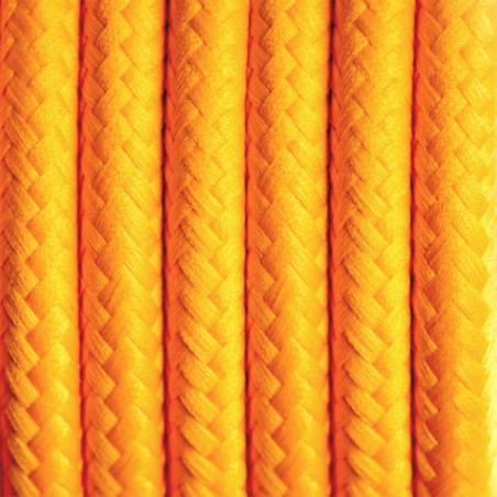 Jasnopomarańczowy kabel w oplocie poliestrowym 02 karaibski grejpfrut dwużyłowy 2x0.75 Kolorowe Kable