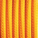 Round electric cable covered by polyester 02 Caribbean grapefruit 2x0.75