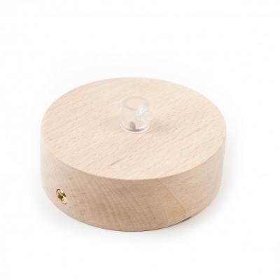Drewniana osłonka sufitowa - jednokablowa