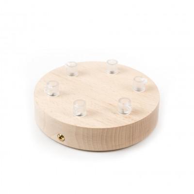 Drewniana osłonka sufitowa - sześciokablowa