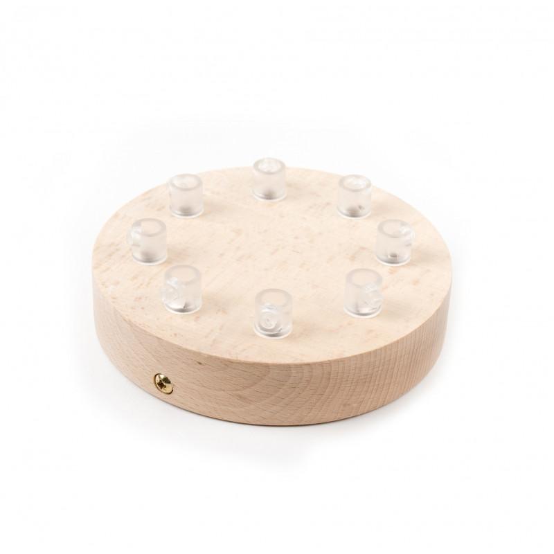Drewniana osłonka sufitowa - ośmiokablowa