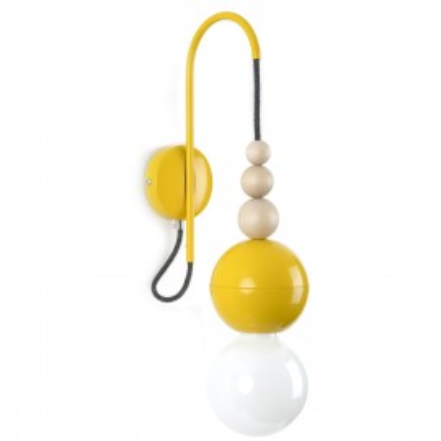 Loft Bala żółty kinkiet