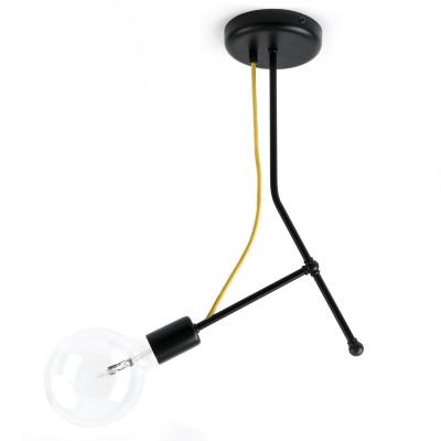 Czarna lampa sufitowa Loft Tubo 3 lampa z metalowych rurek