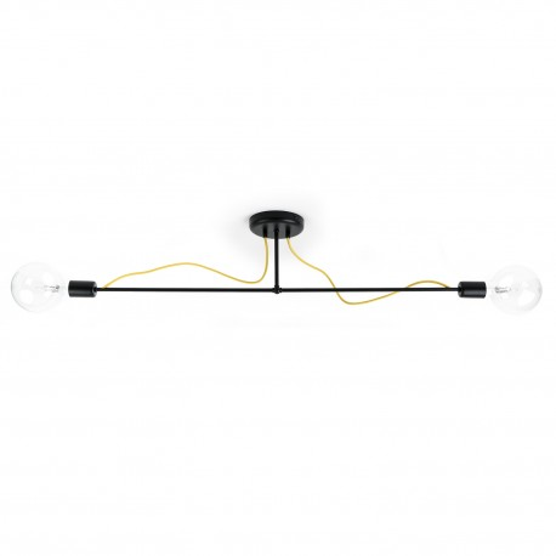 Czarna lampa sufitowa Loft Tubo 6 lampa z metalowych rurek