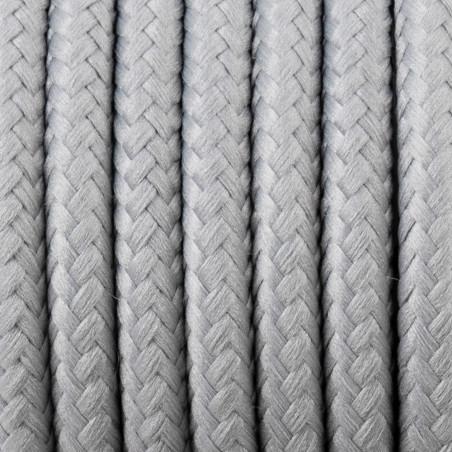 Kabel w oplocie poliestrowym 30 srebrny mech 2x0.75