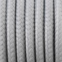 Round electric cable covered by polyester 30 Silver moss 2x0.75