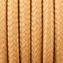 Round electric cable covered by polyester 31 Gold mustard 2x0.75
