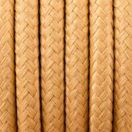 Żółty kabel w oplocie poliestrowym 31 złota musztarda 2x0.75 Kolorowe Kable