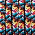 Round electric cable covered by polyester multicolor 32 Multicolor 2x0.75