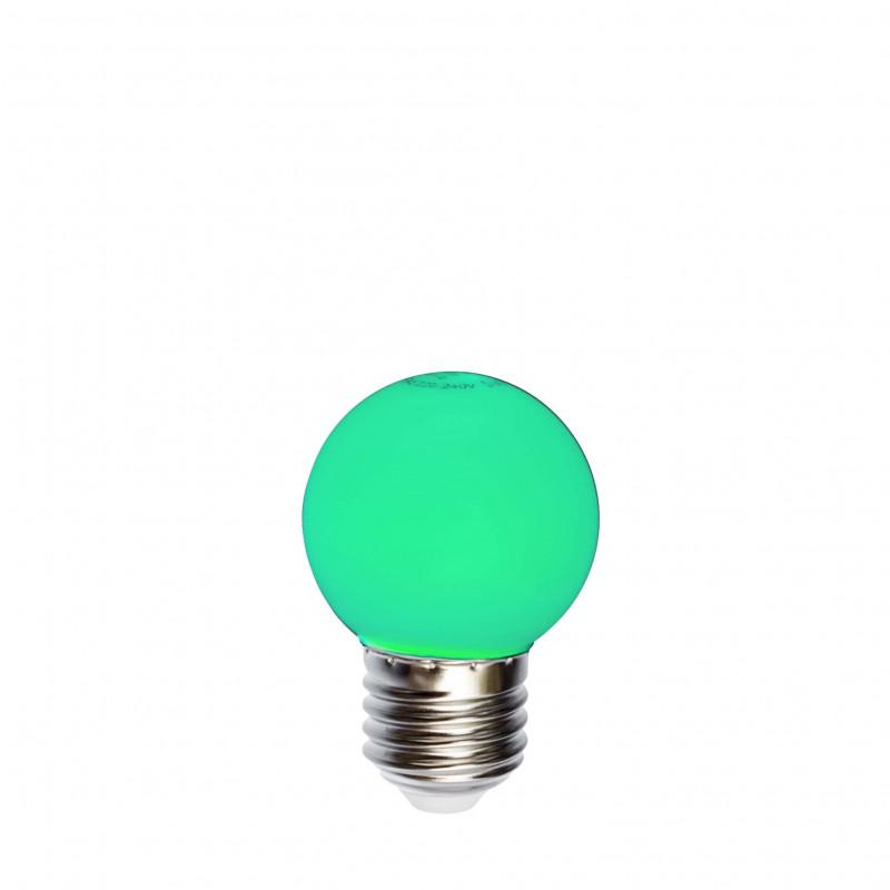 Żarówka do girland LED kulka 45mm 1W zielona