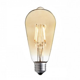 Decorative eco Vintage Amber LED light bulb ST64 65mm 4W