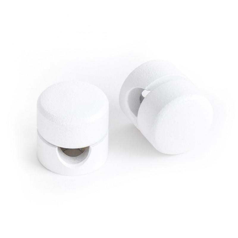 Uchwyt do kabla w kolorze białym strukturalnym