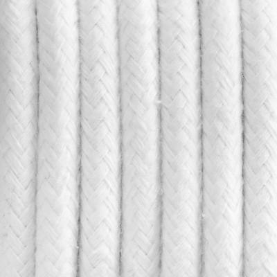 Kabel w oplocie bawełnianym B09 biała perła dwużyłowy 2x0.75