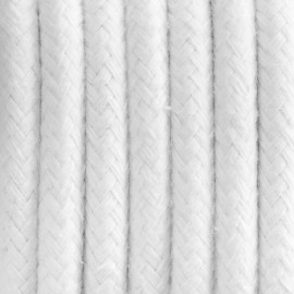 Round electric cable covered by cotton B09 White pearl 3x0.75