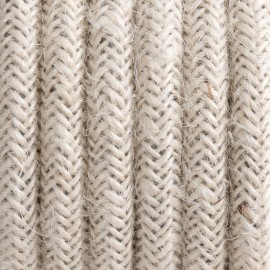 Round electric cable covered by Natural Jute J03 2x0.75