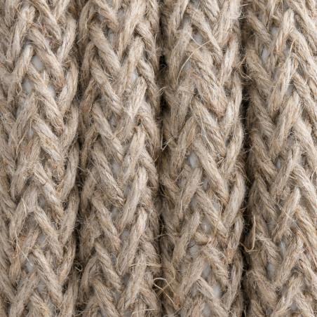 Beżowy kabel w oplocie lnianym L02 dwużyłowy 2x0.75 Kolorowe Kable