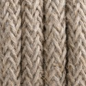 Round electric cable covered by natural linen L02 2x0.75