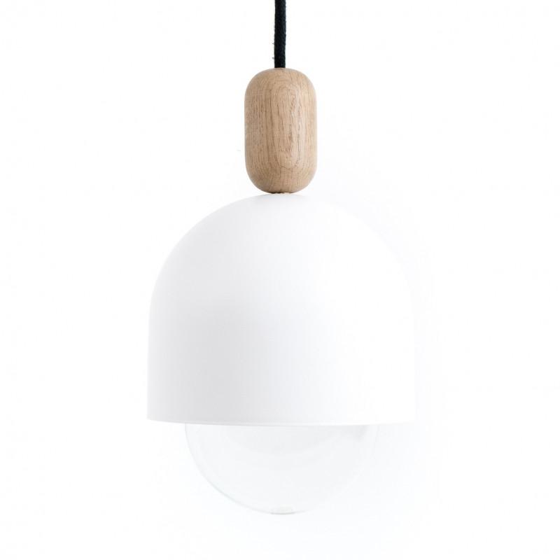 Loft Ovoi biała lampa wisząca