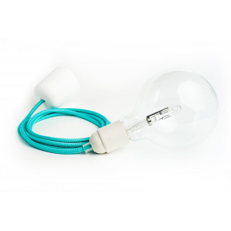 Loft plastic biała lampa wisząca