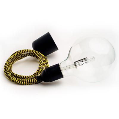 Loft plastic czarna lampa wisząca