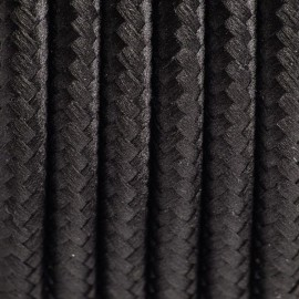 Round electric cable covered by polyester 15 Black tulip 3x1