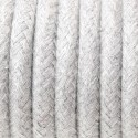 Round electric cable covered by cotton B02 Silvery rock 3x1