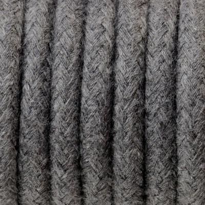 Kabel w oplocie bawełnianym B03 bazaltowy pył trzyżyłowy 3x1