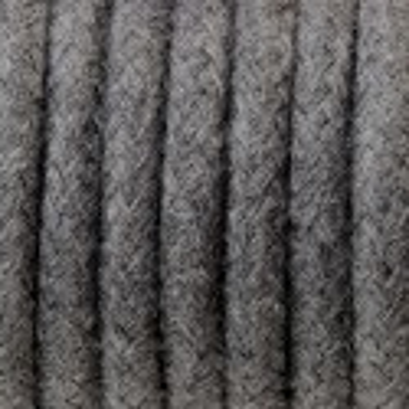 Ciemnoszary kabel w oplocie bawełnianym B03 bazaltowy pył trzyżyłowy 3x1 Kolorowe Kable