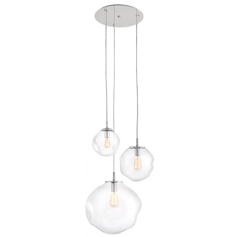 Avia plafon 3 lampa wisząca transparentna
