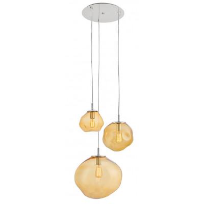 Avia plafon 3 lampa wisząca bursztynowa
