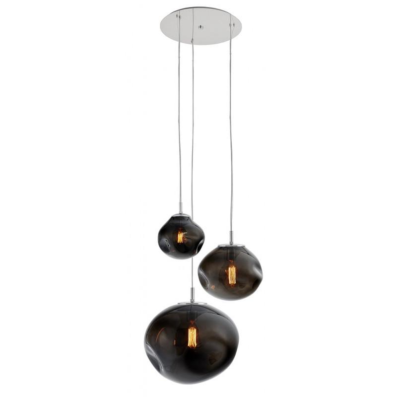 Avia plafond 3 Pendant Lamp Graphite / Smoky