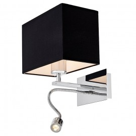 Vers Wall Lamp / Sconce chrome / black plus LED