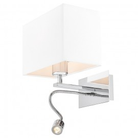 Vers Wall Lamp / Sconce chrome / white plus LED