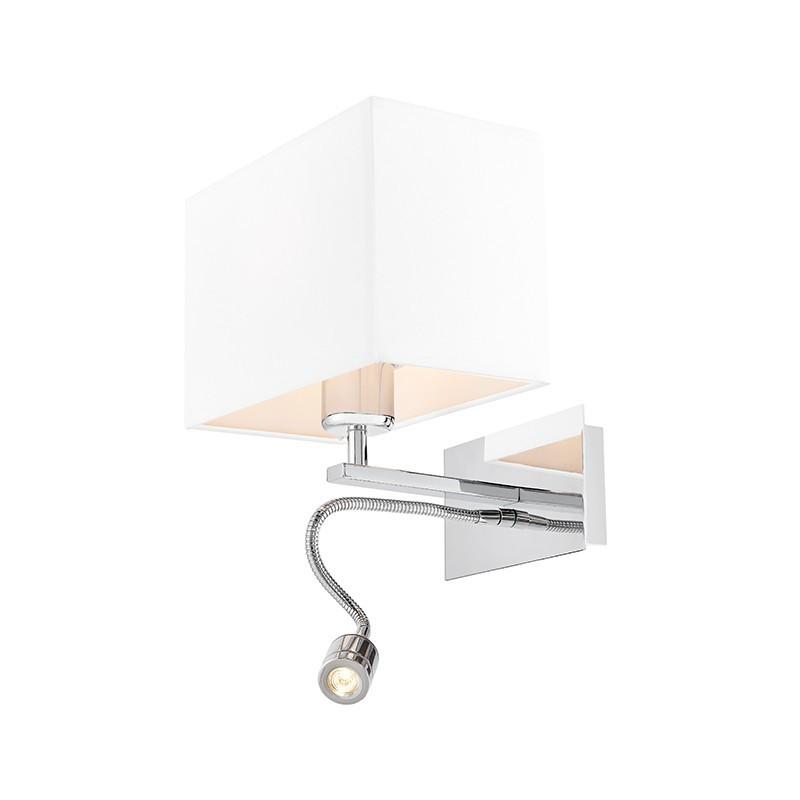 Vers Wall Lamp / Sconce chrome / white plus LED