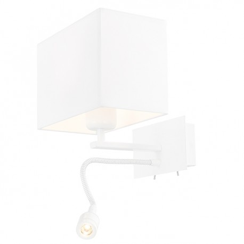 sc 1 st  Kolorowe kable & Vers Wall Lamp / Sconce white / white plus LED