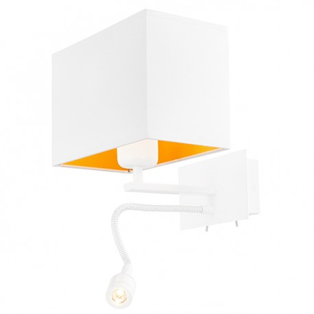 Vers Wall Lamp / Sconce white / white-gold plus LED