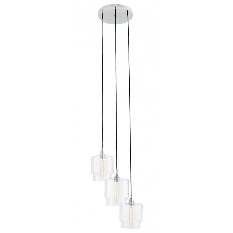 Clea 3 Plafond Pendant Lamp Transparent