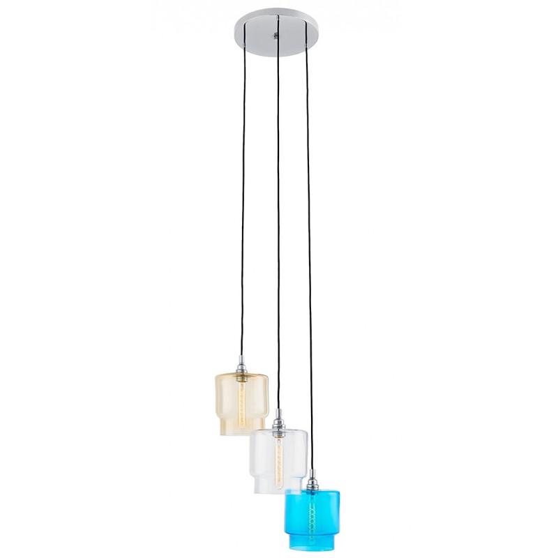 Clea 3 lampa plafon transparentny / miodowy / turkusowy