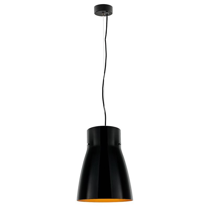 Lang czarna lampa sufitowa