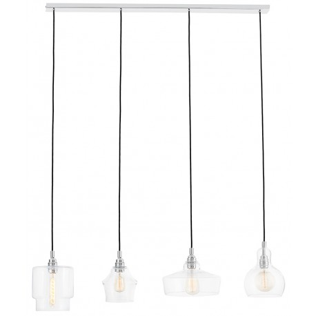 Longis Listwa 4 Pendant Light Rail Chrome