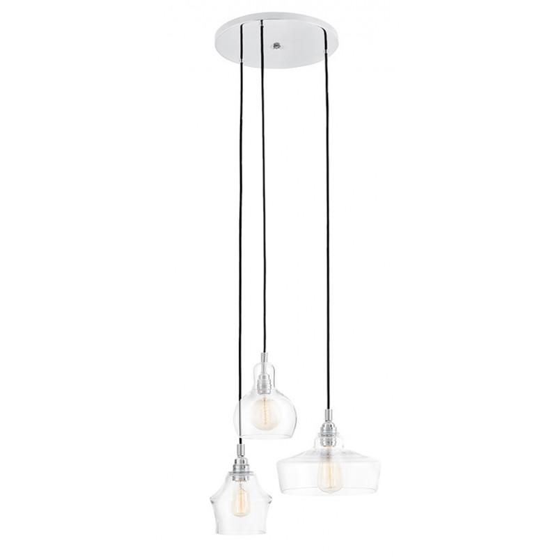 Longis plafond 3 Pendant Lamp Chrome