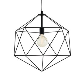 Wire L Pendant Lamp Black