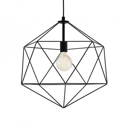 Wire L Pendant Lamp Black