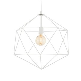 Wire L Pendant Lamp White