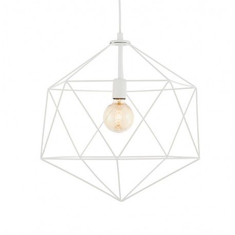 Wire L lampa sufitowa biała