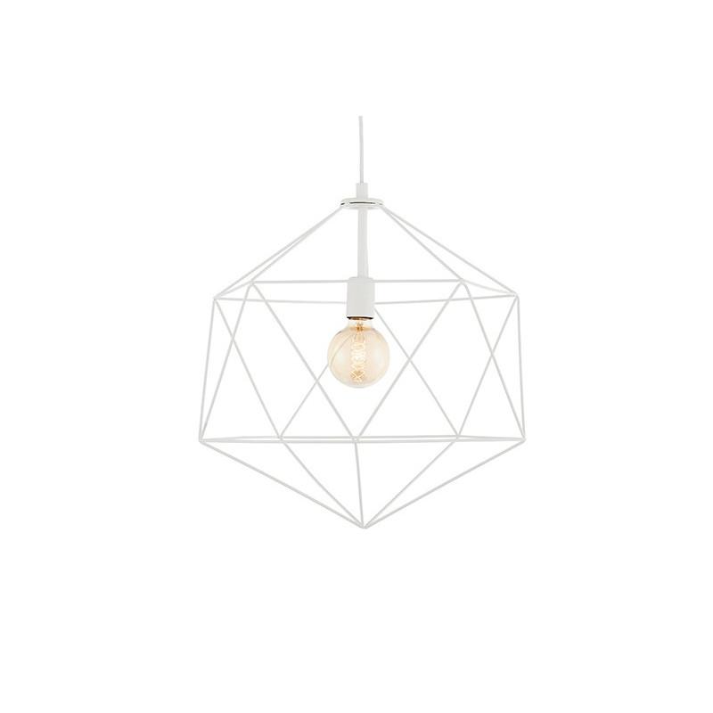 Wire L Pendant Lamp White