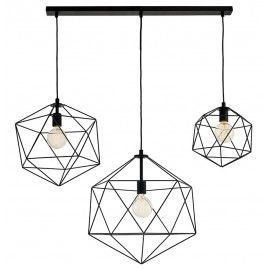 Wire Listwa 3 Light Rail Pendant Lamp Black