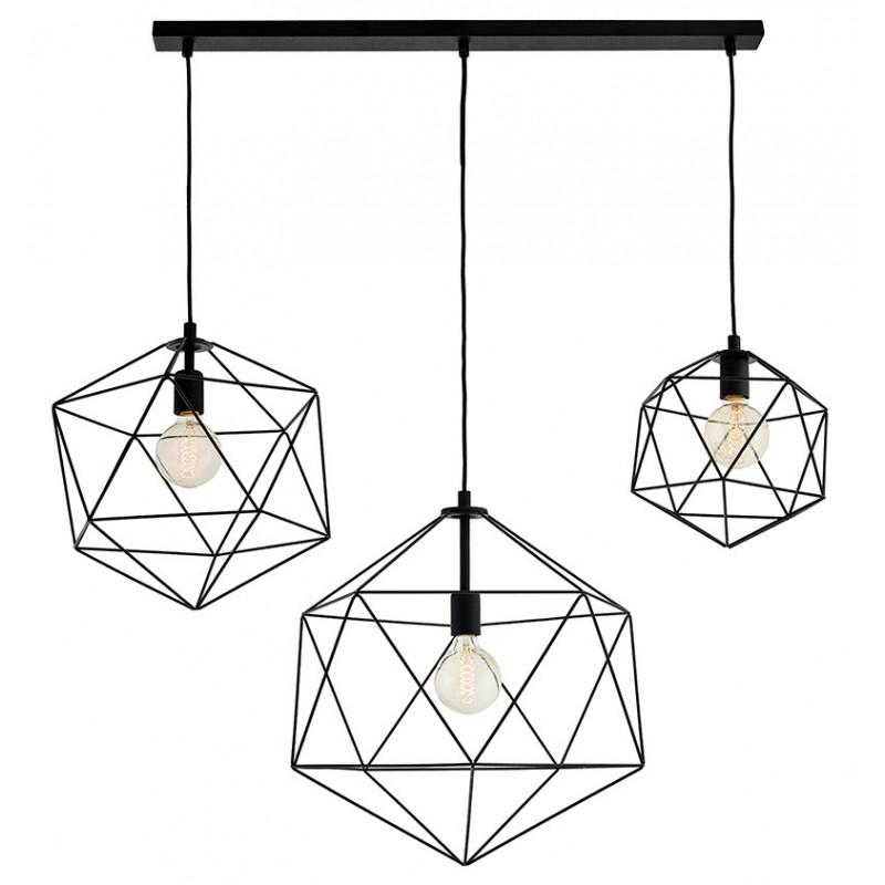 Wire Listwa 3 Light Rail Pendant Lamp Black