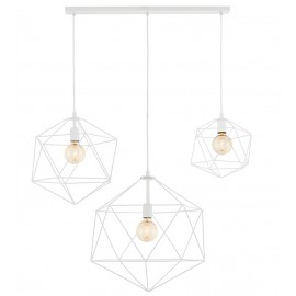 Wire Listwa 3 Light Rail Pendant Lamp White