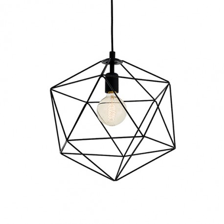 Wire M Pendant Lamp Black